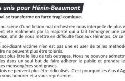 La tribune libre de l'opposition (Hénin-Beaumont c'est vous n°36, septembre 2017)