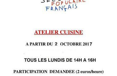 Cuisine, loisirs créatifs et soutien scolaire : le comité d'Hénin-Beaumont du Secours Populaire met en place des ateliers