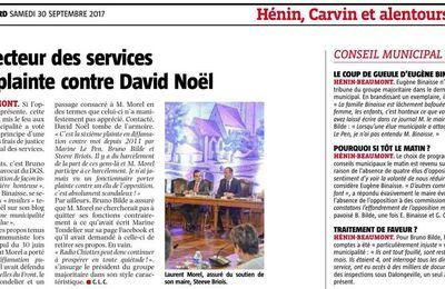 Le Directeur des services porte plainte contre David Noël