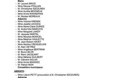 Conseil municipal du 29/09/17 : le compte-rendu officiel est en ligne