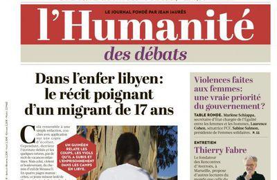 A la une de l'Humanité (17-11-17)