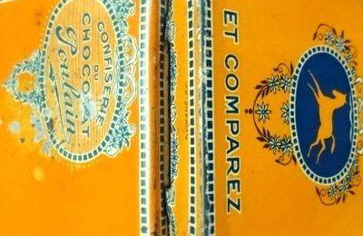 La petite boîte orange de confiserie du Chocolat Poulain > Le poulain+
