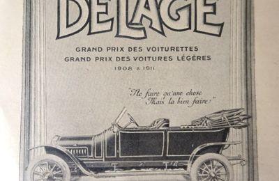 Des voitures et des publicités > Delage, Piccard-Pictet, Bentz > 1913