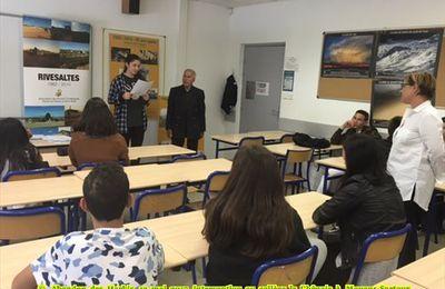 Abandon des Harkis 12 mai 2017 intervention au collège la Chênaie à Mouans-Sartoux (06)