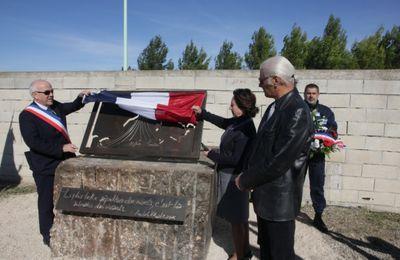 La nouvelle stèle dédiée aux Pieds Noirs et Harkis inaugurée au cimetière de Sigean (11)