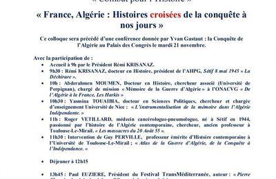 L'Association Historique du pays de Grasse (06) organise un Colloque le jeudi 7 décembre 2017 au palais des congrès.