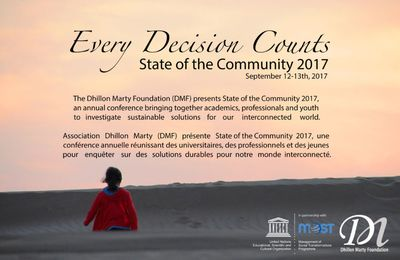 "Veronica Antonelli invited at the conference STATE OF THE COMMUNITIES ""Every decision counts"" 12/13 SEPTEMBER 2017 UNESCO"