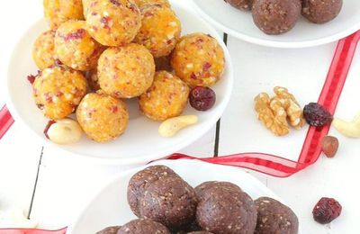 Energy Balls ou Bouchées Énergétiques aux Fruits Séchés