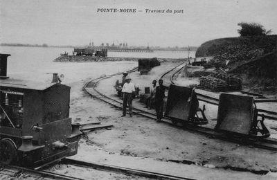 Pointe-Noire : rochers disparus... premiers travaux du port
