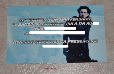 Carte invitation anniversaire Star Wars