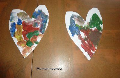 Coeur en peinture