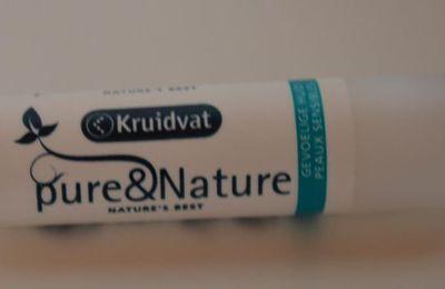 Baume à lèvres Pure&Nature de Kruidvat