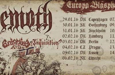 EUROPA BLASPHEMIA 2016: BEHEMOTH pol + ABBATH nor + ENOTOMBED AD swe + INQUISITION us - Trix - Antwerpen - le 7 février 2016