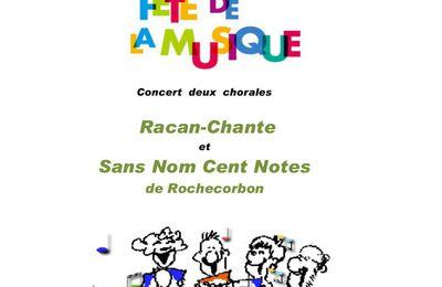Racan chante à la fête de la musique à Neuvy-le-Roi