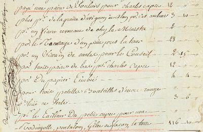 Pièce manuscrite signée Coru