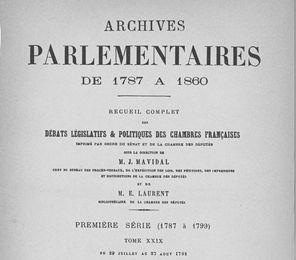 13 juillet 1789: Assemblée Nationale
