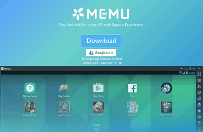 MEmu, le très bon émulateur de jeux Android pour PC.