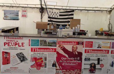 A la fête de l'Huma 2017, sur le stand du Finistère, supplément de photos