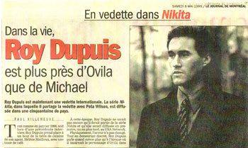1999/05 - Roy Dupuis / En vedette dans NIKITA