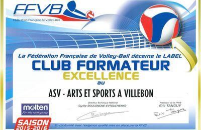 L'AS Villebon Volley labelisé