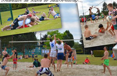 Tournoi de beach-volley avec le COS volley-ball - Sarralbe, juin 2017