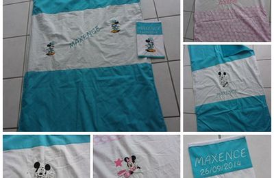 couvertures minnie et mickey