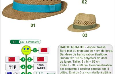 Chapeaux Garden Party en papier - GO113-MB6598