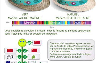 Chapeaux en algues marines ou feuille de palme GO60-16C4930