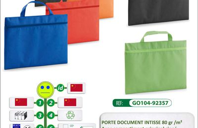 Porte documents BRANDSON en intissé 80gr - GO104-92357