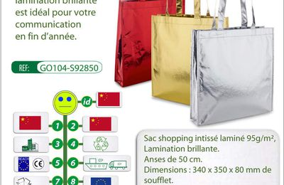 Sac shopping FLASHY en intissé laminé brillant - GO104-S92850
