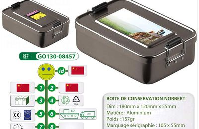Boîte de conservation NORBERT en aluminium - GO130-08457