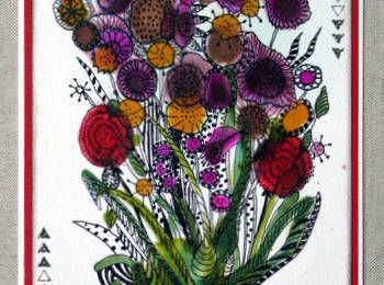ENCRES A ALCOOL ET ZENTANGLE