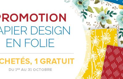 Promotion Papier Design en folie octobre 2017