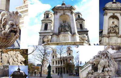 La place Saint-Sulpice et sa fontaine