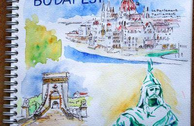 Carnet de voyage aquarelles et dessins à Budapest