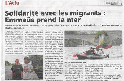 Le Courrier de Mantes. Solidarité avec les migrants: Emmaüs prend la mer
