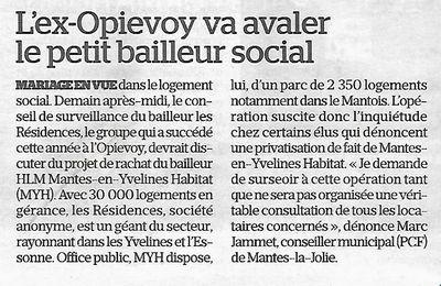 Le Parisien. L'ex-OPIEVOY va avaler le petit bailleur social