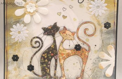Carte {Chats Amoureux} et Inka Gold