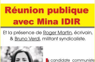 MINA IDIR avec Bruno Verdi et Roger Martin à Pernes, jeudi 1er juin.