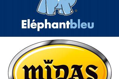 Automobile : Opération co-branding Éléphant Bleu et Midas