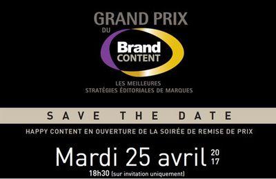 Marketing Event : Grand Prix du Brand Content 2017