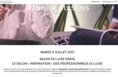 Event : Salon du luxe à Paris, le 11 juillet 2017