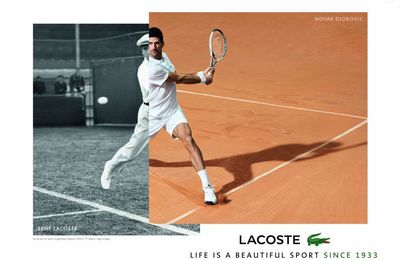Pub de la semaine : Le nouveau crocodile LACOSTE, Noval Djokovic