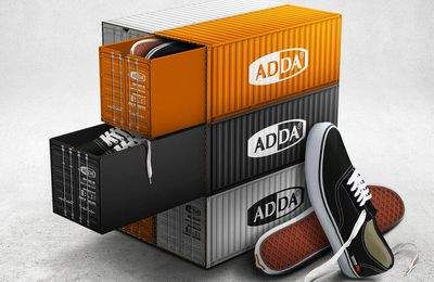 Packaging : La boite à chaussure container ADDA