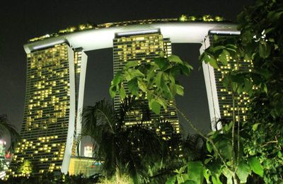 Marina Bay Sands by night Singapour