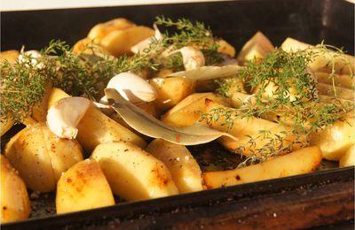 Saucisses et pommes de terre à la plancha