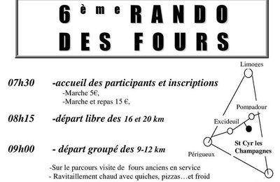 Rando des fours à Saint-Cyr