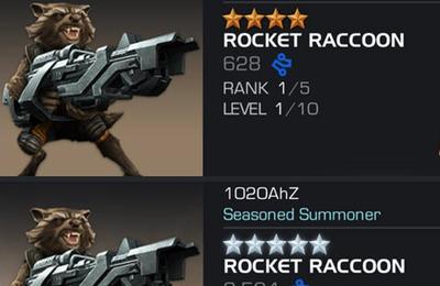 Pour vos duels Rocket Raccoon !! Marvel tournoi des champions