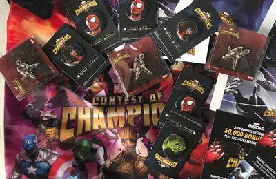 Des cadeaux pour vous :-) goodies Marvel tournoi des champions