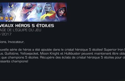 Les 5 nouveaux champions 5* disponibles sur Marvel contest of champions